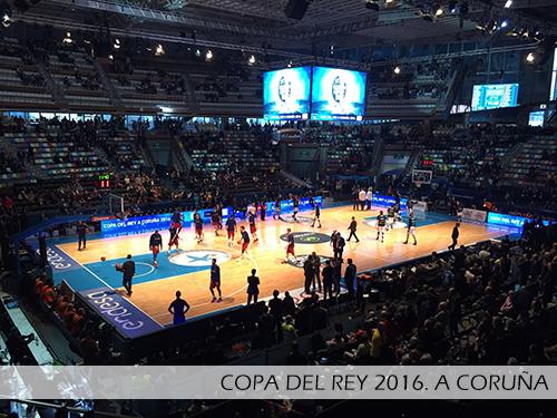 Copa del rey A Coruña 2016. Pista desmontable Junckers