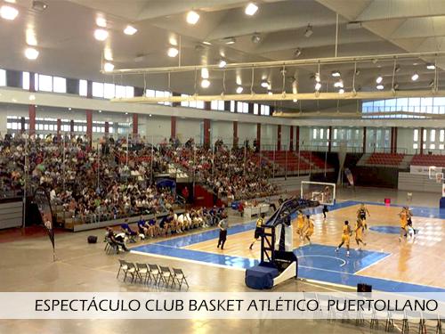Espectaculo Club Basket Atletico Puertollano. Pista desmontable Junckers