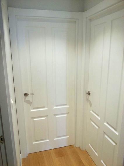 Parquets Nervion suministro e instalación puertas lacadas blancas (mate)