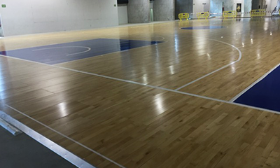Pista Gran Canaria Arena Desmontable A4 pintado terminado