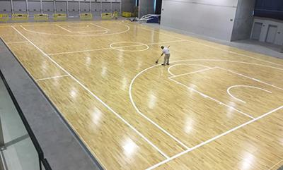 Pista Gran Canaria Arena Desmontable A4 proceso marcaje