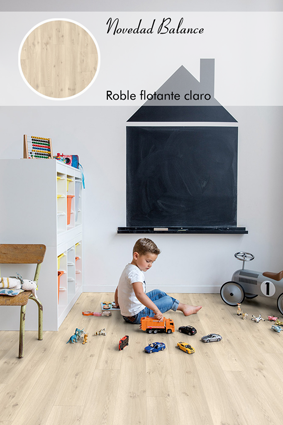 Roble flotante claro_Livyn Quick Step