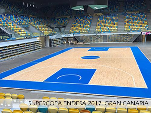Supercopa Endesa 2017 Gran Canaria Arena. Pista desmontable Junckers