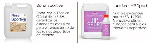 Bona Sportive y Junckers HP Sport