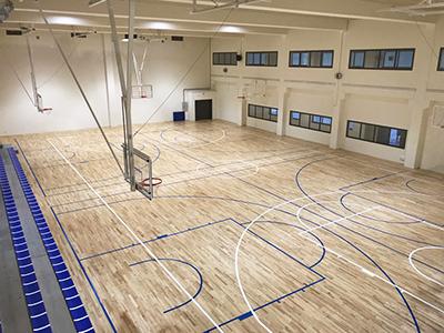 Pista baloncesto complejo deportivo Xabier Kirolgunea Uni Deusto