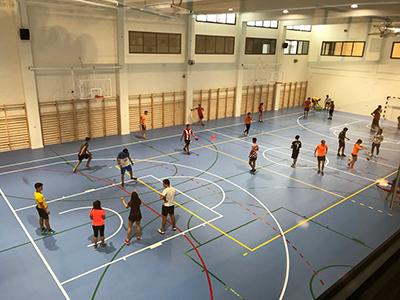 Pista multideportiva complejo deportivo Xabier Kirolgunea Uni Deusto